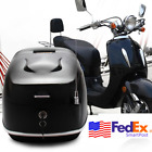 Universal Moped Scooter Top Box Tail Helmet Luggage Storage Lock Case Black USA