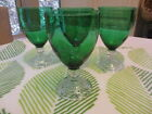 1940-60's  ANCHOR HOCKING BOOPIE / BERWICK / BURPLE  FOREST GREEN GOBLETS SET 4