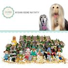 SAVANNASHOPS Dog Nativity Afghan Hound Gifts Nativity Sets Dog Lover Gifts