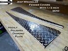 Jeep Wrangler YJ Aluminum Diamond Plate Full 40 long Fender Covers With Bend