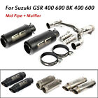 For Suzuki GSR400 600 BK400 600 Motorcycle Mid Connect Link Pipe + Exhaust Pipe