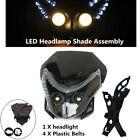 12V 6000K Off-road Motorcycle Front LED Headlamp Cover Dual Street Fairing Light