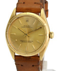 Vintage Rolex Watch Men's Oyster Perpetual1005 14k Yellow Gold Turn-o-Graph 34mm
