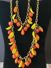 vintage murano Venetian glass fruit necklace and bracelet FREE SHIPPING