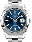 Rolex Datejust II Stainless Steel Blue Dial Mens Watch Box/Papers 116300