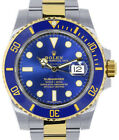 Rolex NEW Submariner Date 18k Gold & Steel Ceramic Blue Watch Box/Papers 116613