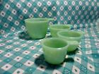 Jadeite Green Glass 4 Piece Set of Measuring Cups in Very Good Condition