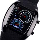 Mens Boys Sports Smart Watch Car RPM Speed Meter Dial Flash LED Wrist Watch UK