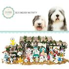SAVANNASHOPS Dog Nativity Old English Sheepdog Gifts Nativity Sets Dog Lover