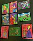 1994 Skybox Simpsons Series 2 Wiggle Cards Complete 9 Card Insert Set Lot