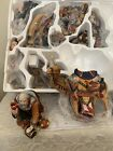 Vintage Kirkland Nativity Set 13 pieces Gorgeous Elegant Fabrics Flocked Animals