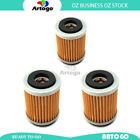 3 Pcs Engine Oil Filter Fit MBK Scooter 125 XC K Flame R 1997 1998 1999