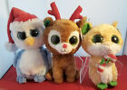 Ty Christmas Beanie Boos: Fairbanks, Comet, and Candy Cane