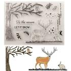 Christmas Deer Silicone Clear Seal Stamp DIY Scrapbooking Embossing Photo Album