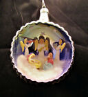 VINTAGE JUMBO DIORAMA NATIVITY CHRISTMAS ORNAMENT MERCURY GLASS ITALY