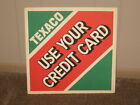 VINTAGE CARDBOARD TEXACO CREDIT CARD SIGN GAS & OIL 14