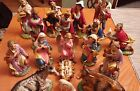 Vintage Paper Mache Nativity 12 Figures Italy Fontanini