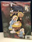 Joy To The World Nativity Bucilla Christmas Stocking Felt Applique Kit 84816 NEW