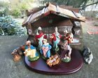 Vintage Italian NATIVITY SET Christmas Manger Scene Creche Marked Italy Org Box