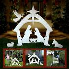 Celebrate Jesus W This Beautiful Outdoor Christmas Nativity Yard Decoration set