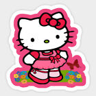 Hello Kitty Vinyl Sticker For Skateboard Luggage Laptop Tumblers M