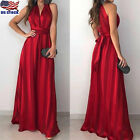 Womens Sleeveless Prom Ball Gown Formal Evening Party Cocktail Long Maxi Dress