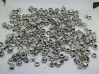Misc Lot Tibetan  Silver Plated Large Hole European Spacer Beads 100 Beads