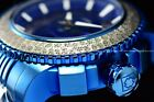 Invicta Men's 48mm Sea Hunter Skull Automatic Black Blue Bracelet SS Watch