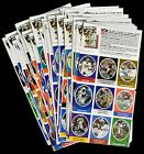 1972 Sunoco NFL Football Action Stamps Near Set 594 Stamps of 624 NM-MT