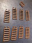 Used / LEGO / 8 Brown Ladder Parts / Pirate / 6030812 / Build Custom City Castle