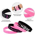 Breast Cancer Awareness wristband Silicone Bracelet Lssed