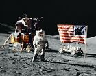 APOLLO 17 ASTRONAUT HARRISON JACK SCHMITT ON MOON 8X10 NASA PHOTO MW130
