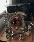 Fontanini 5 Lighted Nativity Set Stable 10 Figure Lot Heirloom In Box Musical