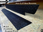 JEEP CJ7 Black Rubber Coated Aluminum Diamond Plate Side ROCKER PANEL SET