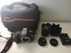Canon EOS 7D 18.0MP Digital SLR Camera - Black come with multiple lens and bag