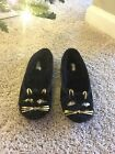 Kate Spade Black Cat Slippers