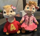 Ty Beanie Baby Alvin & Brittany. Alvin And The Chipmunks.New W/ Tags!!