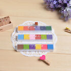 6Colors Non Toxic Color Ink Pad Inkpad Rubber Stamp Finger Print Craft RS