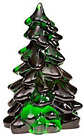 MOSSER GLASS CHRISTMAS TREE HUNTER GREEN SET OF 3 ASSORTED SIZES