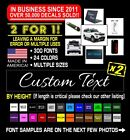 2x Custom Vinyl Decal Sticker Lettering Personalized Business Text Laptop Car 3