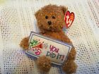 TY BEANIE BABIES ~  YOU DID IT / BEAR ~ EXC CONDITION   WITH TAGS
