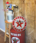 NEW 17'' Texaco Red T Star  Domed Metal Sign, Garage, Man Cave, Bar Decor