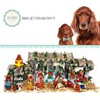 SAVANNASHOPS Dog Nativity Irish Setter Gifts Nativity Sets Dog Lover Gifts