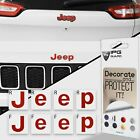 Compass MP 2017 2019 Jeep Front and Rear Emblem Overlay Decal Sticker