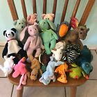 Beanie Babies - Lot of 18 Play Condition Bears Bunnies Mini