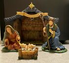 IRISH NATIVITY THE HOLY FAMILY  HOLY NIGHT CRECHE HAWTHORNE VILLAGE COLLECTION
