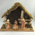 Vintage FONTANINI Heirloom Shepherd Angel Nativity Set 5 Piece w Box Creche