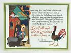 Heidi Looart Mid Century Nativity Shakespeare Christmas Card Unused