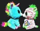 Ty Beanie Boos TREASURE UNICORN & SAPPHIRE ZEBRA 2012 Justice Exclusives MWMT
