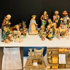 Vintage Hummel Jumbo NATIVITY SET 260 TMK5 18 Pcs With Camel  Stable RARE